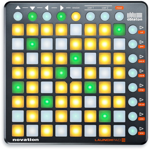 Novation Launchpad S 64-Button Music Controller AND Launchpad Sleeve Soft Carry Bag Bundle