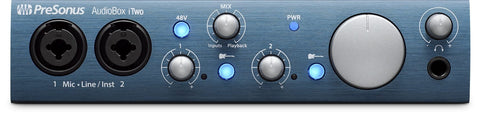 PreSonus AudioBox iTwo 2x2 USB 2.0 / iPad / MIDI Recording Interface w/2 Mic Inputs