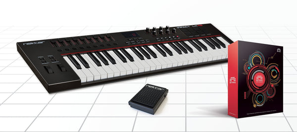 Nektar Impact LX49 49 note USB keyboard controller bundle with Bitwig Studio Software DAW and NP-1 Pedal