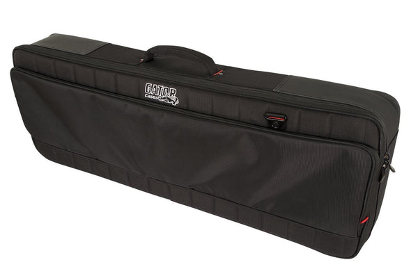 Gator G-PG-61SLIM Pro-Go series Slim 61-note Keyboard bag with micro fleece interior and removable backpack straps