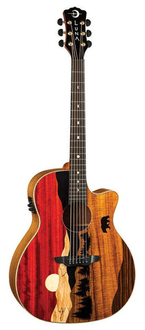 Luna Vista Bear Tropical Wood Acoustic/Electric w/ Case