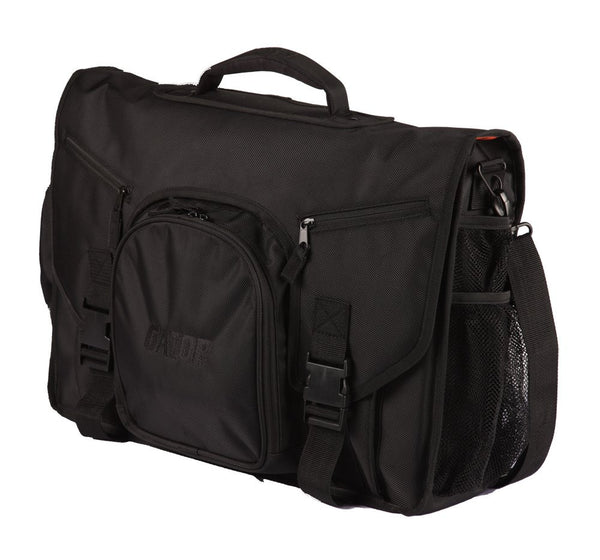 Gator G-CLUB CONTROL Messenger Style Bag to hold Laptop based DJ midi Controller, laptop, and headphones