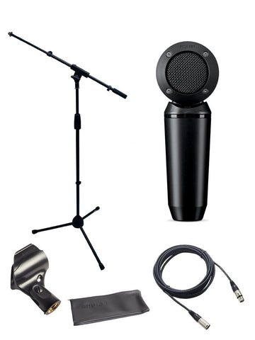 Shure PGA181 Microphone Bundle with MIC Boom Stand and XLR Cable