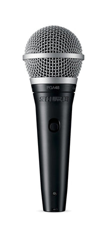 "Shure PGA48 Microphone Bundle with MIC Boom Stand and 1/4"" Cable"