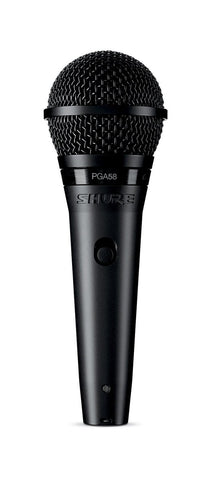 Shure PGA58 Microphone Bundle with MIC Boom Stand and XLR Cable