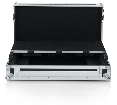 Gator Cases G-TOUR Series DJ Controller Road Case with Sliding Laptop Platform - Custom Fit for Pioneer DDJ1000; (G-TOURDSPDDJ1000)