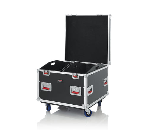 Gator Cases G-TOUR Series Equipment Storage Case / Cable Trunk with Heavy Duty Casters, Adjustable Dividers and Storage Trays, Truck Pack Size; 30