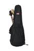 Gator 4G Style gig bag for 2 electric guitars with adjustable backpack straps, GB-4G-ELECX2