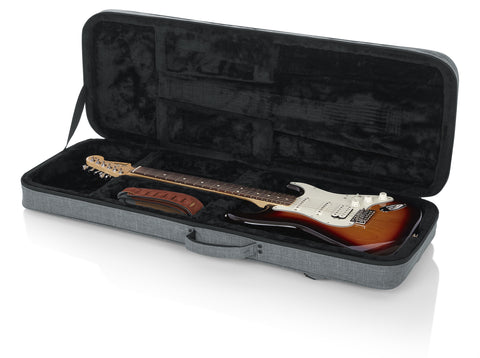 Gator Cases Transit Series Lightweight Polyfoam Electric Guitar Case (GTR Gry