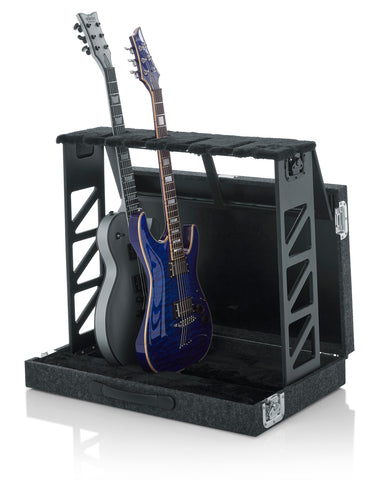 Gator Cases Compact Stand Case Holds up to (4) Acoustic or Electric Guitars (GTRSTD4) Rack Style Folds Fits