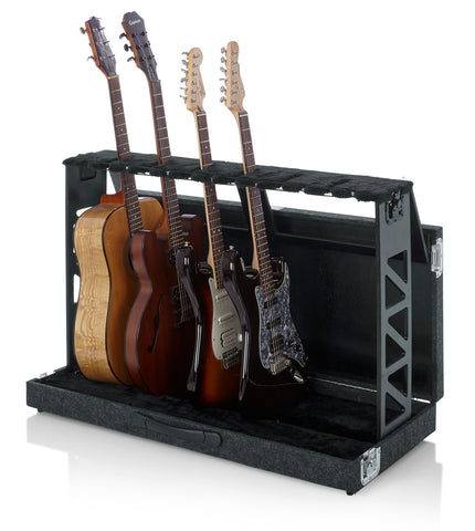 Gator Cases Compact Stand Case Holds up to (6) Acoustic or Electric Guitars (GTRSTD6) Rack Style Folds Fits