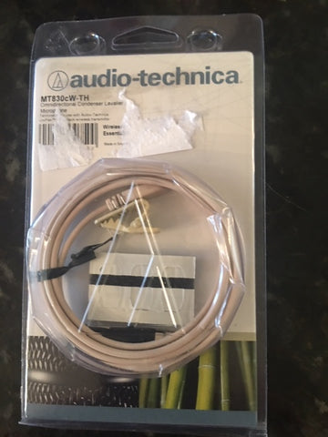 Audio-Technica MT830cW-TH Omnidirectional Condenser Lavalier Microphone (Refurb)