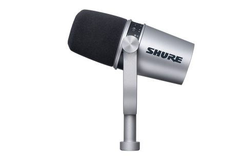 Shure MV7 Podcast USB/XLR Microphone (MV7-S) Silver
