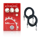 TC-Helicon Mic Mechanic Vocal Effects Pedal w/2 Free 20' XLR Cables