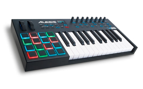 Alesis VI25 | Advanced 25-Key USB MIDI Keyboard & Drum Pad Controller (16 Pads / 8 Knobs / 24 Buttons) -Refurbished