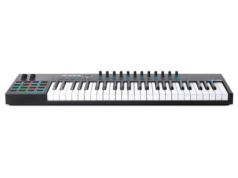 Alesis VI49 | Advanced 49-Key USB MIDI Keyboard & Drum Pad Controller (16 Pads / 12 Knobs / 36 Buttons)