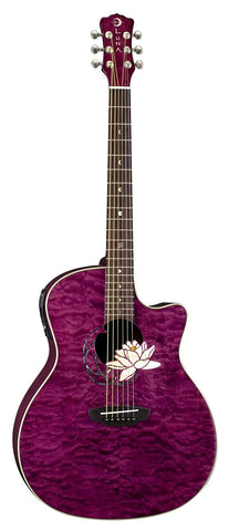 Luna Flora Lotus Trans Plum/Quilted Maple, FLO LOT QM