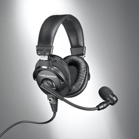 Audio-Technica BPHS1-XF4 Communications Broadcast Stereo Headset with Dynamic Boom Mic (Refurb)