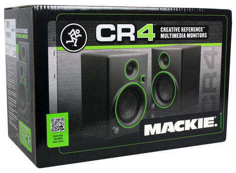 Mackie CR4 Monitors & Audio Technica ATH-M40X Headphone Studio Bundle Pack