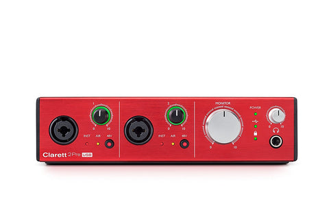 Focusrite Clarett 2Pre USB 10-In/4-Out Audio Interface