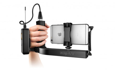 iKlip A/V Smartphone Broadcast Mount for pro-quality audio/video Recording