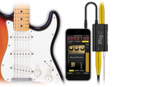IK Multimedia iRig 2 guitar interface adaptor for iPhone, iPod touch, iPad, Mac and Android