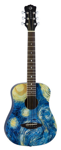 Luna Safari Starry Night Travel Guitar, SAF STR