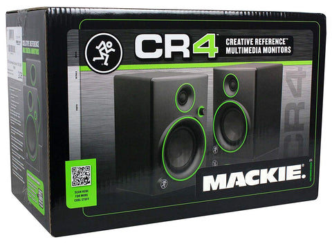 (2) Mackie CR4 Pair and Headphone