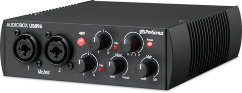 Presonus AudioBox USB 96 2x2 USB 2.0 / 96kHz, with 2 Mic inputs, Studio One Artist In 25th Anniversary Edition