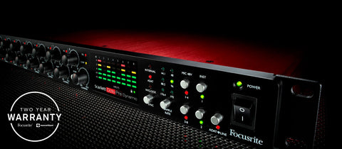 Focusrite Scarlett OctoPre Dynamic 8-Channel Mic Pre Expansion with Analog Compression, 8 In/8 Out Preamp