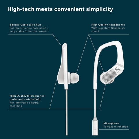 Sennheiser AMBEO Smart Headset (iOS) -  3D Video Sound Recording Earphones with Active Noise Cancellation