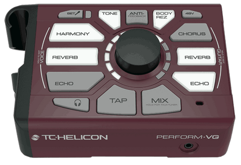 TC-Helicon Perform VG Vocal Effect Processor, Burgundy