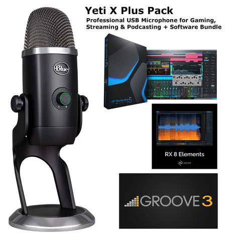 Blue Yeti X Plus Pack Professional USB Microphone + Software Bundle
