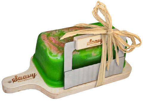Green Tea & Lime Handcrafted 1lb. Soap Loaf Gift Set