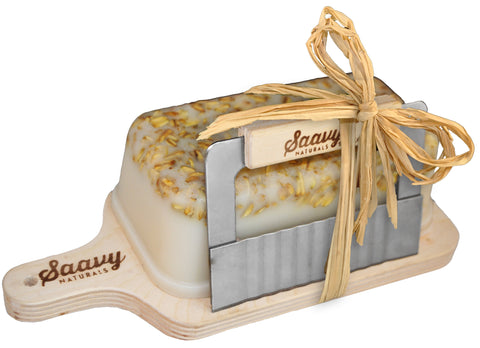 Oatmeal Almond Handcrafted 1lb. Soap Loaf Gift Set