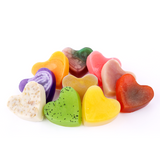 Natural and Organic Heart Shape Bar Soap Variety Pack (10 bars)
