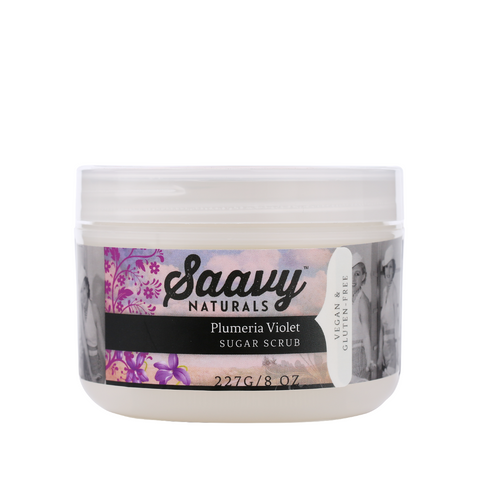Natural And Organic Sugar Scrub - Plumeria Violet