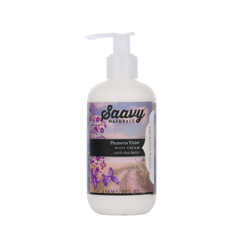 Natural and Organic Body Cream - Plumeria Violet