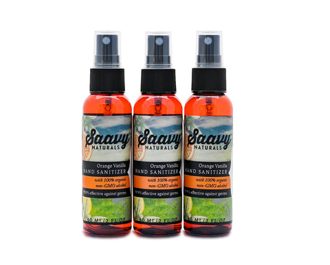 Orange Vanilla Hand Sanitizer 3-Pack