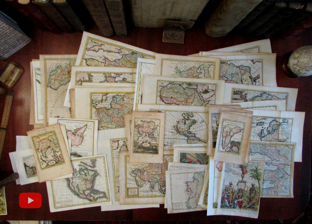 New Arrivals of Antique Maps - 9 October 2019- Behind the scenes look