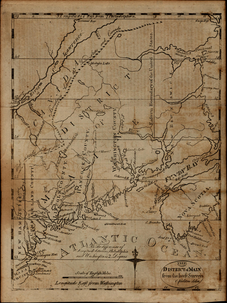 Discussing the first printed map of Maine (1795)
