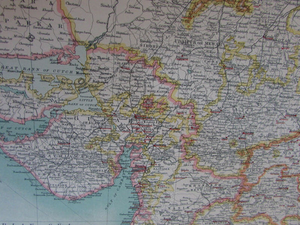 NW India Pakistan Afghan c.1930 Religious Christian & Jewish Missions & work map