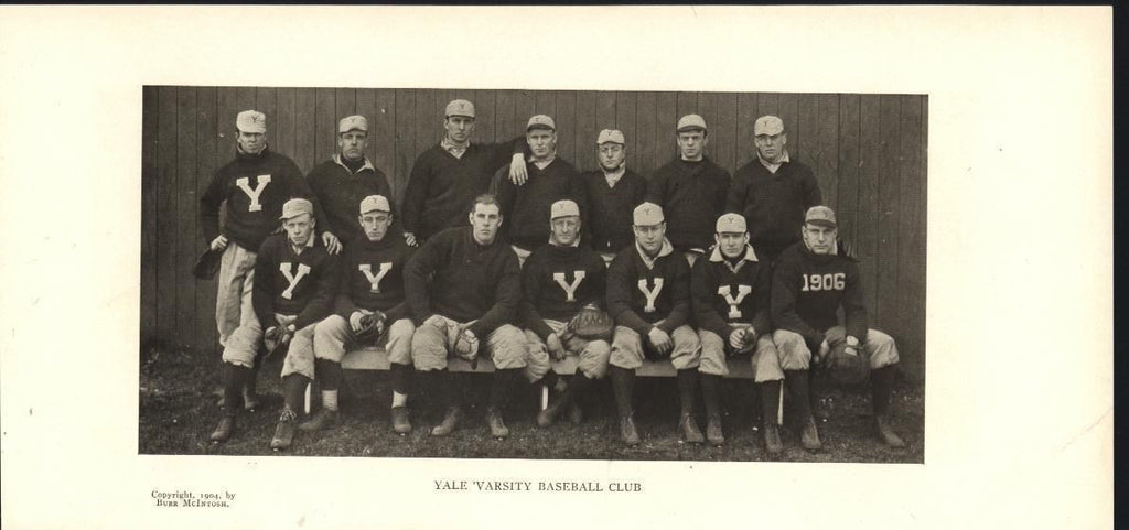 Yale Varsity Baseball Club 1904 antique photo print