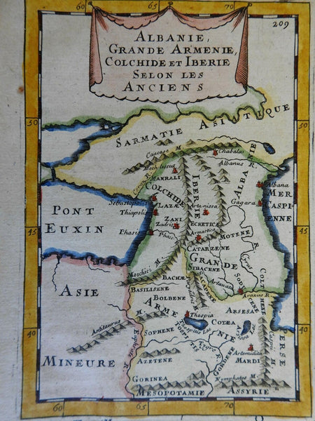 Caucasus Armenia Georgia Azerbaijan Black Sea Caspian Sea 1683 Mallet map