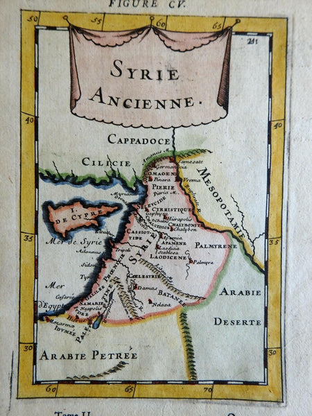 Ancient World Syria Cyprus Holy Land Damascus Tripoli 1683 Mallet map