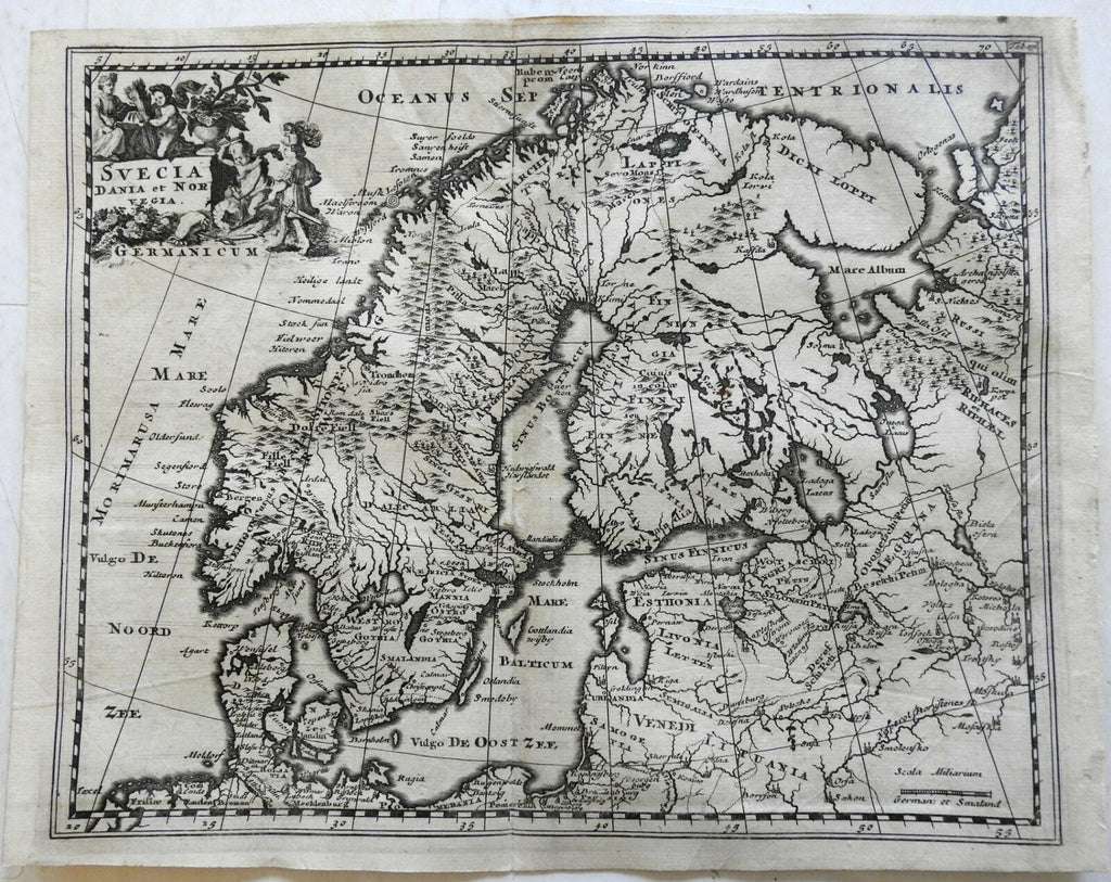Scandinavia Sweden Denmark Norway Finland Baltic Sea 1697 Cluverius map