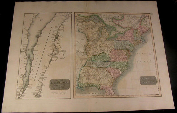 Eastern United States Huge Georgia 1817 Thomson original hand color antique map