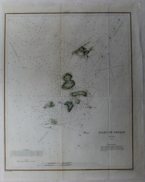 Isles of Shoals New Hampshire Hog Smuttynose Star isle 1879 USCGS Nautical chart