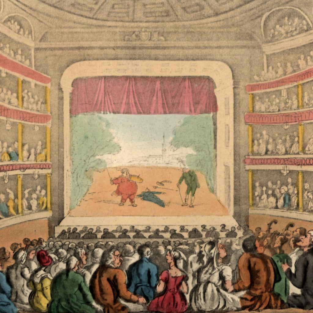 Covent Garden Theatre interior crowded 1818 Rowlandson Ackermann aquatint print