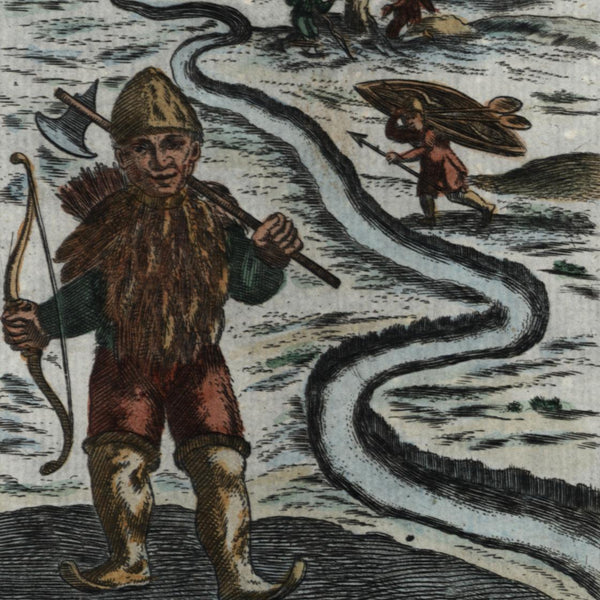 Arctic Nova Zembla island natives Russia Icy Sea 1719 Mallet Ethnic type print